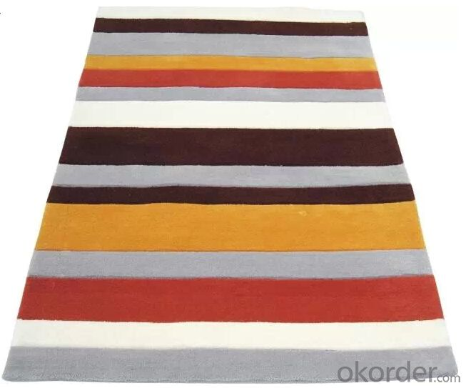Acrylic Hand Tufted Carpets And Rugs/popular strip rug