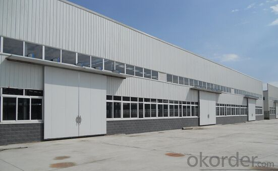 long span prefabricated steel structure warehouse/workshop/shed