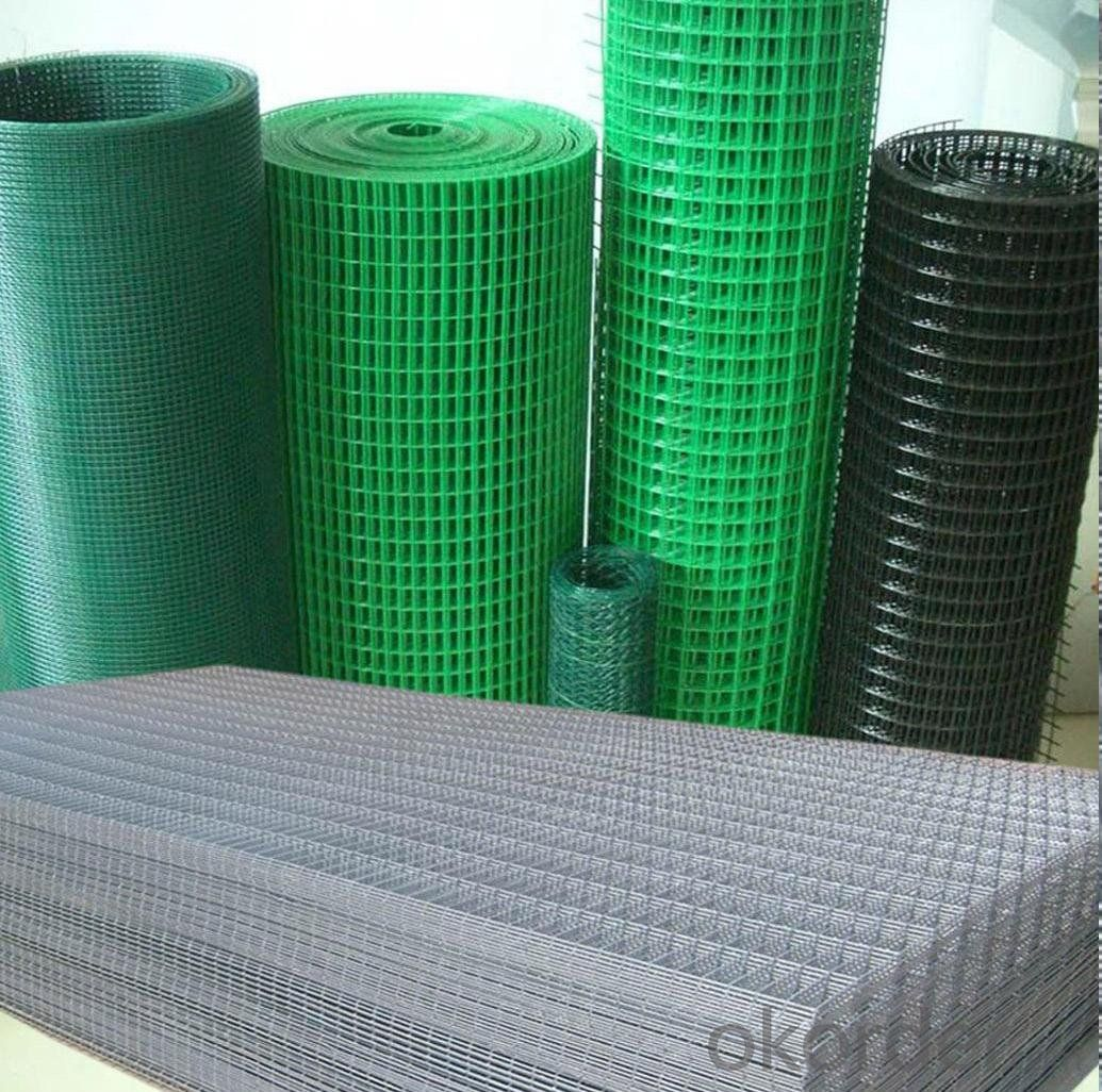 Welded Wire Mesh Greem PVC Coated Welded Wire Mesh From 0.2 to 7mm