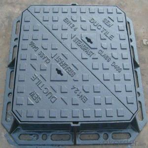 EN124 jinmeng brand Locking Manhole Cover with shockproof rubber sealing SGS