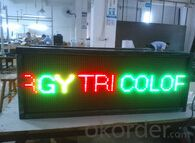 Remote Controller Tri-color Moving LED Message Sign CMAX-M3