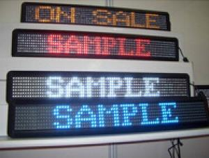 Single Color P7.62 Indoor LED Message Signs CMAX-M3