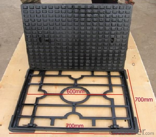 Manhole Cover with Square Net Base on Hot Sale