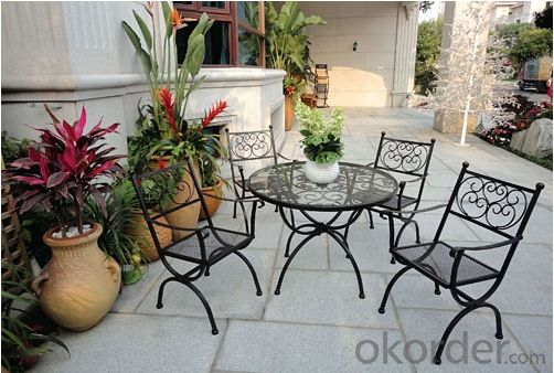 Aluminum Metal Garden Chair Table Set