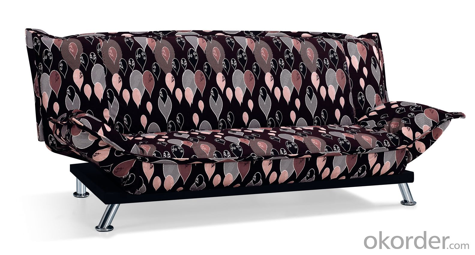 Leather sofabed in fabric model-10