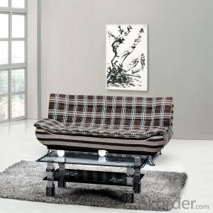 Leather sofabed in fabric model-15