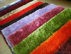 plain polyester shaggy rugs