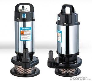 Vertical centrifugal sewage pump