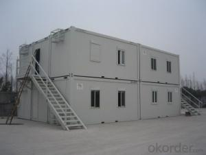 High quality decorated movable container house with wheels