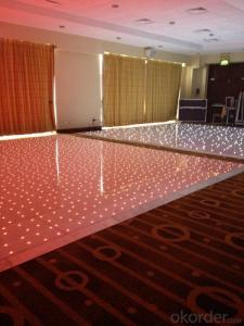 Led rgb twinkling dance floor for events/parties