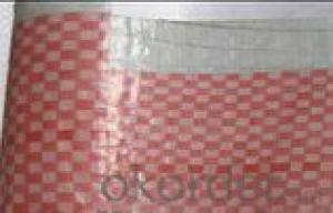 Thin PE tarpaulin in red & white lattice
