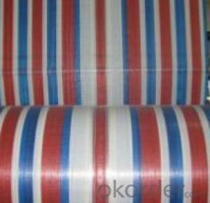 Color Stripe Tarpaulin Fabric in Roll