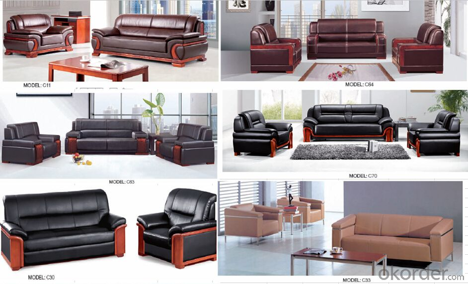 Luxury Modern Sectional  Leather/PU Office Sofa/Chair CN