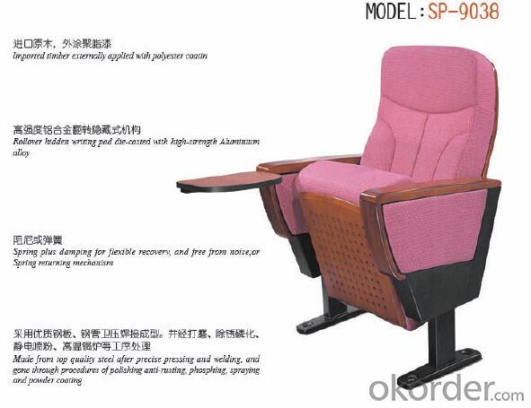 Cinema Chair/Theatre Chair/Auditorium Chairs With Table Pad 9038F