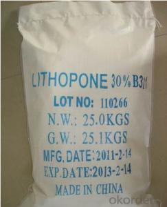 Lithopone 28-30% Lithopone B301 , B311 low price