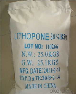 White Powder Pigment Lithopone 28%-30% For Paint &Coating