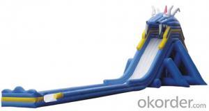 Commercial pvc panda slide inflatable bounce
