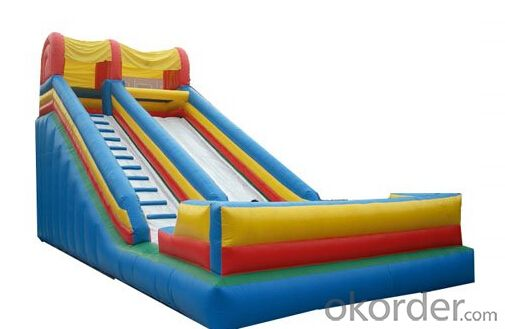 New model yellow Combine Inflatable Slide