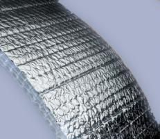 flexible ducts S/B RELAX insulation and bubble foil mylar film for heat seal