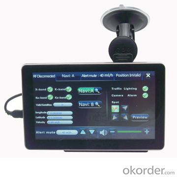7 inch DVR GPS Navigation and Radar detector