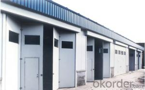 2015 Professional hot sale Iron Factory Doors/ Industrial Overhead Doors