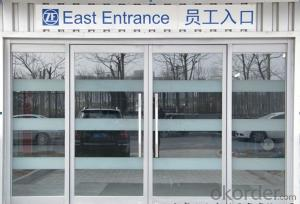 2014 new designed and low cost industrial glass door