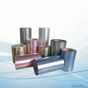 Lamination film for 12mic Metalized Pet+10mic Polyester;