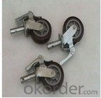 wheel caster heavy duty scaffold caster with lock or double locks