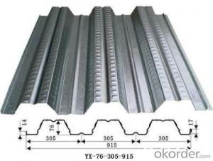 Galvanised Steel Floor Board Decking Sheet
