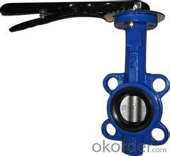 butterfly valve Wafer type flanged body style fit between FF or RF flanges China (Mainland)