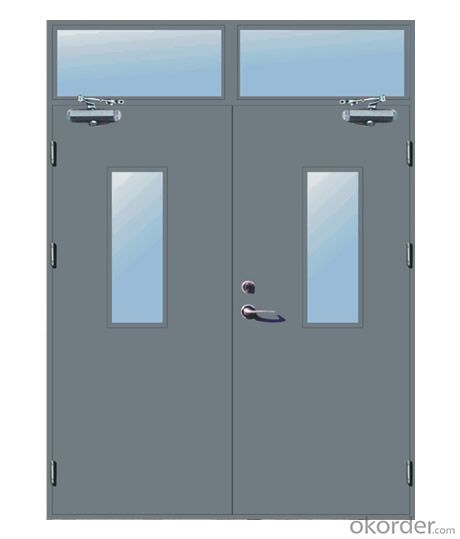 CE approved High quality anti-fire steel door