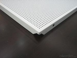 Perforated Lay On Aluminum Ceiling Panel 600*600mm