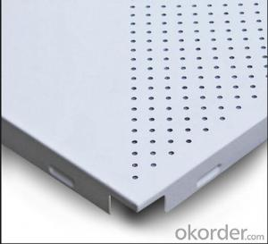 Lay on Perforated Aluminum Ceiling( Standard White)595*595