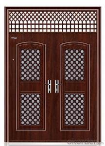 Hot saled single leaf entry steel security door