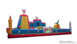 Lamb joy funny inflatable super castle for kids