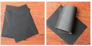 Black EPDM Rubber Flat Roofing Material