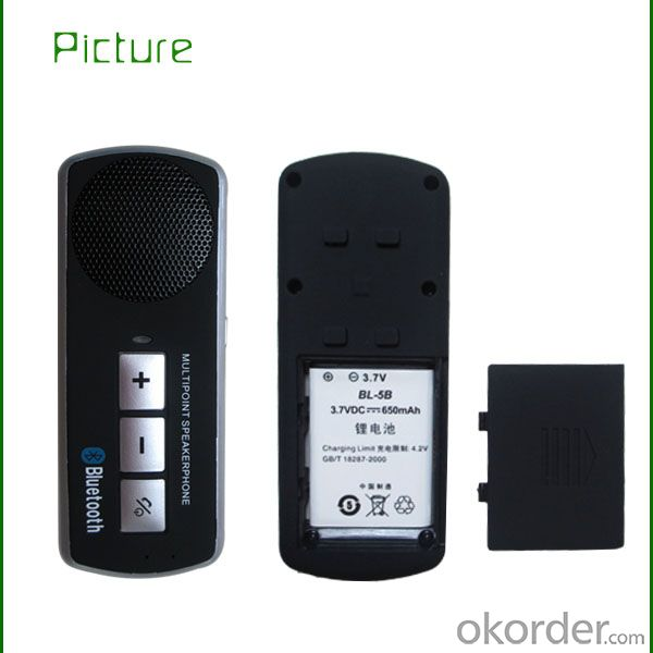 solar bluetooth handsfree car kit speakerphone support music play