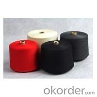 30s,32S spun polyester yarn black color