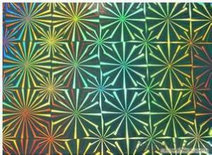 Laser holographic polyester film for decoration
