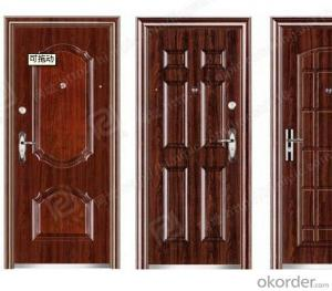 luxury and new design splicing steel door in china