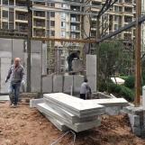 Panel partición para baño de cemento prefabricado EPS a prueba de agua y bajo costo