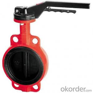 Ductile Iron flanged  Butterfly valve DN40