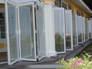 Energy saving aluminium folding door with thermal break profile