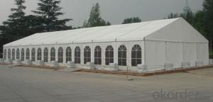 Big PVC material steel frame tilted wall single layer event tent