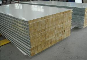 Sound absorbing rock wool sandwich panel