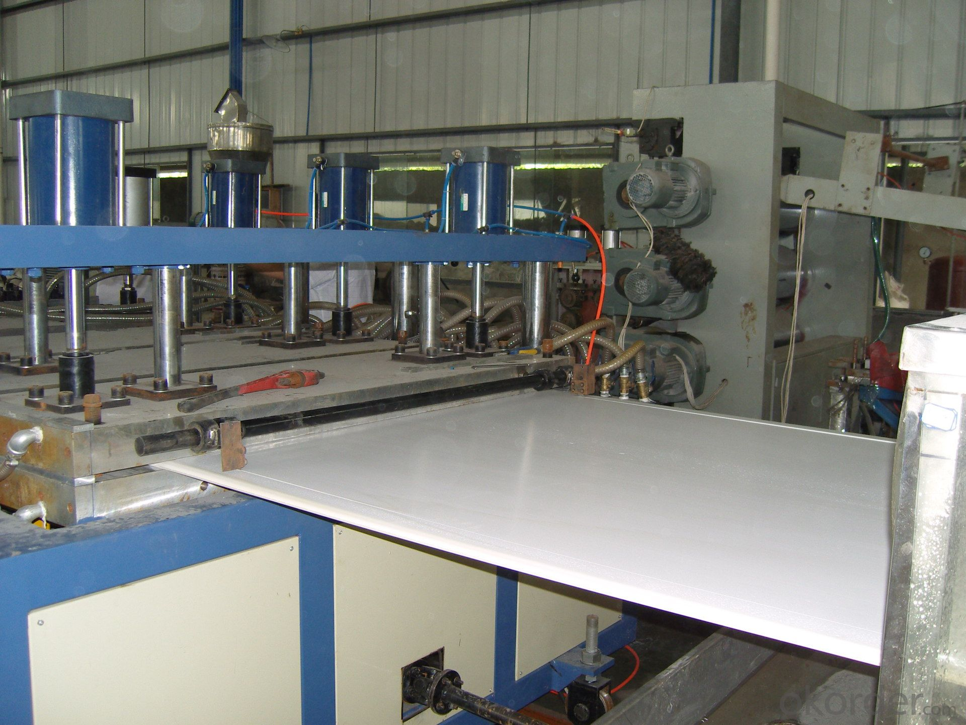 pvc wood foamed board extrusion production line