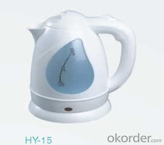 1.5 Litre Food-grade enviromental plastic PP Steel Electric Kettle with white Housing