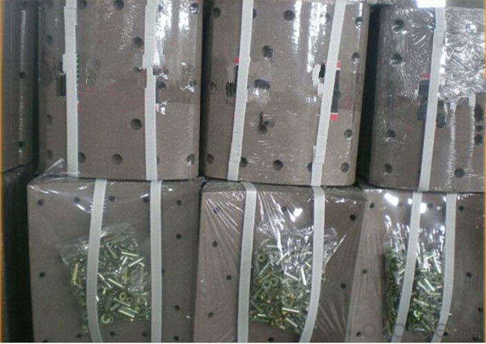 Semi-metalic WM020 Truck Brake Lining for Daewoo