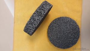 Foundry industry silicon carbide filters