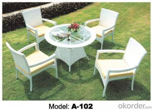 Outdoor furniture Hand Rattan Leisure chair & table suite A-102
